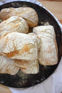 Ciabatta Rolls - Crusty and chewy, this is perfect sandwich bread