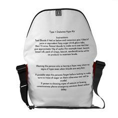 e8903299f4 Hypo Kit bag for type 1 diabetes Messenger Bag Type 1 Diabetes