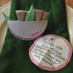 paper flowers place card, washi-tape - One Bunting Away