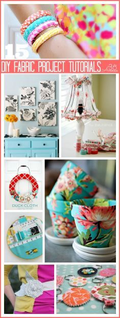 Fabric Projects and Tutorial 15 DIY Fabric Project Tutorials. These are DIY Fabric Project Tutorials. These are awesome! Diy And Crafts Sewing, Crafts To Sell, Home Crafts, Fabric Crafts, Fun Crafts, Arts And Crafts, Scrap Fabric, Amazing Crafts, Sell Diy