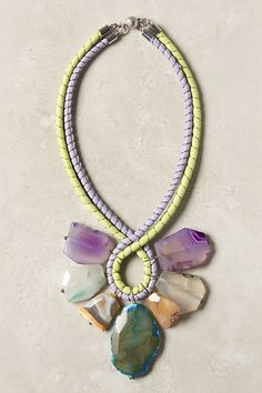 Seven Stones Necklace  #anthropologie