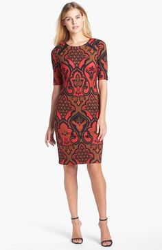 Taylor Dress Print Ponte Knit Sheath Dress available at #Nordstrom