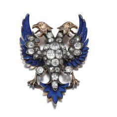 Enamel and diamond brooch, late 19th Century