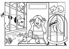 pets coloring pages 29 Best Kids and Pets Coloring Pages images | Animals for kids  pets coloring pages