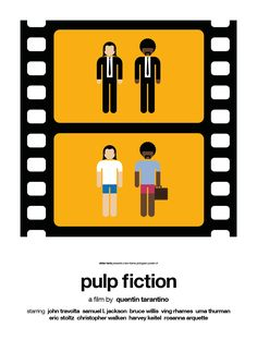 Viktor Hertz reduces the plots of a few movies to two frames and pictogram characters.