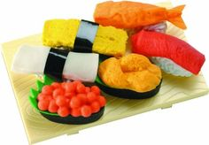 DCI Sushi Erasers, Set of 6, 2298 by DCI | Unique Pin by Michelle S.