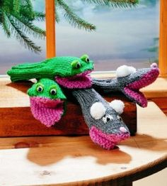 Knit Animal Mittens