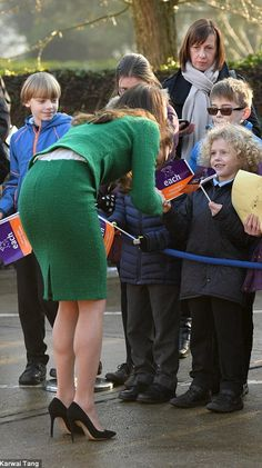 Catherine, The Duchess of Cambridge is meeting youngsters with life-threatening conditions and their families as she tours the children's centre in the Norfolk village of Quidenham - around an hour's drive from her home at Anmer Hall. Kate is wearing Hobbs. 24 January 2017