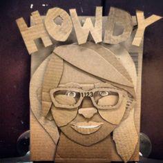3-D Cardboard Self Portrait
