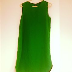 Emerald Green Zara dress only 4 bucks at Out of the Closet on Santa Monica Blvd. Is this what love feels like? I think so guys...I think so <3
