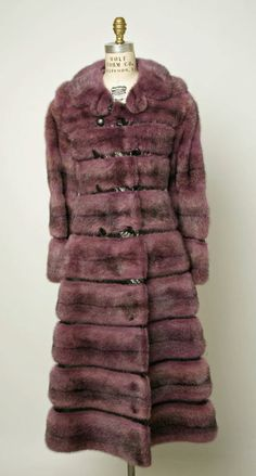 Fur + leather coat belonged to Lauren Bacall. House of Dior. Marc Bohan. 1969–72