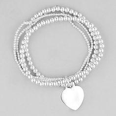 Elastic silver bracelet. My favorite!