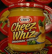Google Image Result for http://upload.wikimedia.org/wikipedia/commons/thumb/b/be/CheezWhiz.jpg/175px-CheezWhiz.jpg