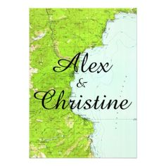 Lake Tahoe Map Wedding Invitation - invitations personalize custom special event invitation idea style party card cards