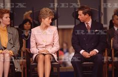 October 25, 1991: Prince Charles and Princess Diana with Brenda Eggleton, wife of the Mayor of Toronto at a Civic Welcome for the Royal couple at Nathan Phillips Square plaza, Toronto, Ontario.
