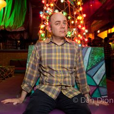 Portrait of comic Todd Barry by photographer Dan Dion.