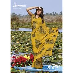Find your georgette saree with olive green coloured printed Rrwsilk bouse. which will make you look out of the ordinary.