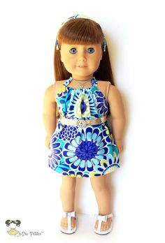 AG Doll Clothes  3 pc. Halter Top Dress Belt by JoDeePetites