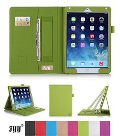 iPad Air 2 (iPad 6) Case Cover, FYY® Premium Leather Case Smart Cover with Card Slots, Pocket, Elastic Hand Strap and Stylus Holder for Apple iPad Air 2 (iPad 6) Green (With Auto Wake/Sleep Feature) FYY http://www.amazon.com/dp/B00OFXCGIC/ref=cm_sw_r_pi_dp_zDN8ub1YV1RW1