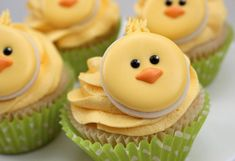 Little chick cupcake toppers.