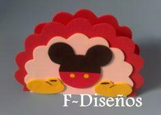 Cumple Mickey Mouse | Servilleteros Mickey De Goma Eva Mickey Mouse