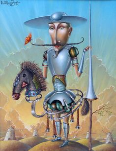 Dreams of Don Quixote painting sale by Zurab Martiashvili, none ...