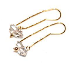 Simple Earrings Herkimer Diamond Earrings Herkimer by FizzCandy, $50.00