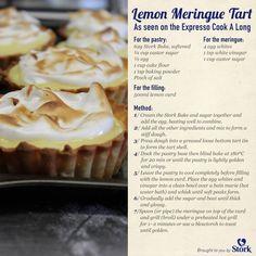 Lemon Meringue Tart #recipe Bakery Recipes, Cupcake Recipes, Dessert Recipes, Desserts, Dessert Ideas, Yummy Recipes, Recipies, Stork Recipes, Ma Baker