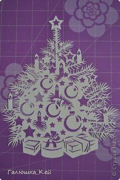 Поделка изделие Новый год Вырезание Новогодняя елка Бумага фото 1