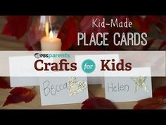 Let kids pitch in this holiday by making these pretty place cards. #pbscraftsforkids