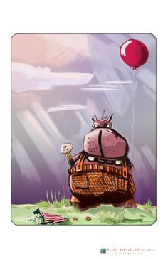 Hungry Hippo  11 x 17 Archival Color Print by dandepaolo on Etsy