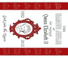 Diamond Jubilee tea towel fabric by melissamelissa on Spoonflower