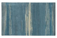 Peony Rug, Blue, on OneKingsLane.com  Hand-tufted from a blended New Zealand wool, it is hand-dyed to create depth through shades of color, while a cut pile creates depth through texture. Made in India.