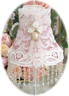 Beaded Victorian Lampshade