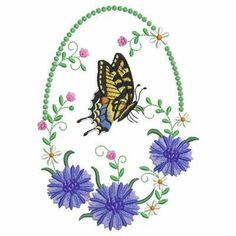 Floral Oval 7 - 5x7 http://www.SWAKembroidery.com Ace Points Embroidery