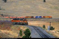 RailPictures.Net Photo: BNSF 4959 Burlington Northern Santa Fe GE C44-9W (Dash 9-44CW) at Coal Creek Canyon, Colorado by Mike Danneman