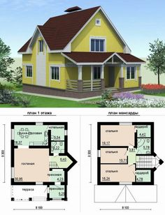 Cottage House Plans, Smallest House, Small Houses, Farmhouse, Small Living,  My House, Home Decor, Architecture Design, How To Plan, Home Layouts, Home  Plans ...