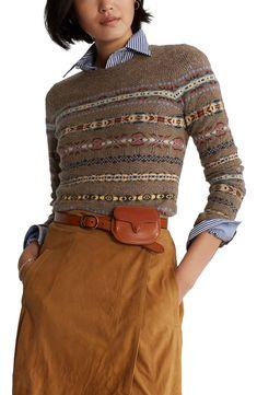 Ralph Lauren Style, Polo Ralph Lauren, Ralph Lauren Fashion, British Country Style, Tartan Clothing, Ralph Laurent, Polo Sweater, Womens Fashion Online, Striped Knit