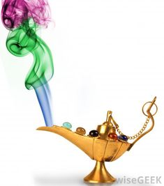 Genie Lamp With Smoke Cartoon What is a genie with pictures