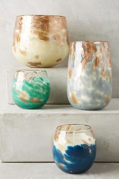 These gorgeous celestial shimmer glass candles that not only make your place smell nice but look super cute too.