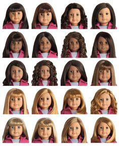 If only I could have em all! American Girl My AG JLY Dolls  http://americangirl.wikia.com/wiki/Visual_Chart_of_My_American_Girl_Dolls  http://store.americangirl.com/agshop/html/thumbnail/id/127/uid/86