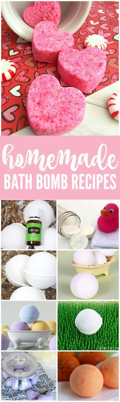 DIY Homemade Bath Bomb Recipes! Easy Tips and Tricks for making these Bath Bombs at home. The perfect gift idea for Valentine's Day or Mother's Day!