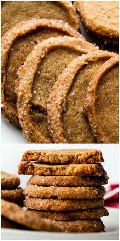 Chewy, crisp, tender, and EASY brown sugar shortbread Shortbread Cookies, Yummy Cookies, Cookies Et Biscuits, Köstliche Desserts, Delicious Desserts, Dessert Recipes, Holiday Baking, Christmas Baking, Fudge