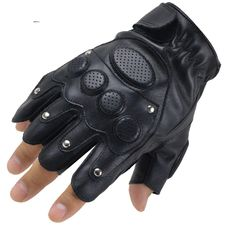 rabbagash.com Motorcycle Half-Finger Gloves Elegant design and attractive craftsmanship. Ergonomic finger design, greater flexibility, and comfort when driving. The touchscreen phone is easy to use. Wide protection on the back of the hand with a hard fiber shell design, effectively protects your hands from collisions. The palm with the portable puppy pad design, the attached hand provides a fantastic grip. Last but not least, make a style statement!