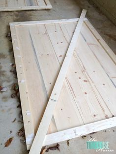 DIY Simple Sliding Barn Doors