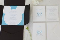 What better way to get your guests excited for a Disney wedding than with an invitation inspired by Mickey and his bride