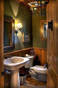 Rustic Country Bathroom Decor √ 28 Rustic Bathroom Ideas Making Impact to atmosphere Small Rustic Bathrooms, Rustic Bathroom Lighting, Rustic Lighting, Small Cabin Bathroom, Rustic Cabin Bathroom, Log Cabin Bathrooms, Rustic Bathroom Fixtures, Rustic Bedrooms, Painted Bathrooms