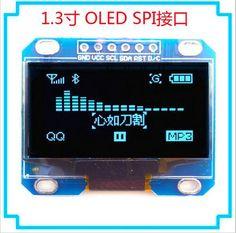 "10PCS 1.3"" OLED module blue color IIC I2C 128X64 1.3 inch OLED LCD LED Display Module For Arduino 1.3"" IIC I2C Communicate #Affiliate"