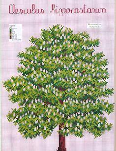 Gallery.ru / Фото #198 - занавески шторы - irisha-ira Cross Tree, Cross Stitch Tree, Cross Stitch Cards, Cross Stitch Flowers, Counted Cross Stitch Patterns, Cross Stitch Designs, Cross Stitching, Cross Stitch Embroidery, Tree Images