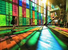 "Colors of Sunlight by ""Toshio"" (Palais des congres de Montreal)... I want to go here again :/"